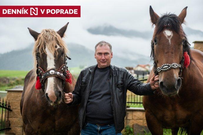 Vladimír Vida pracuje ako furman od roku 1999, má päť koní, k povolaniu priviedol aj svojho syna. Foto N - Tomáš Hrivňák