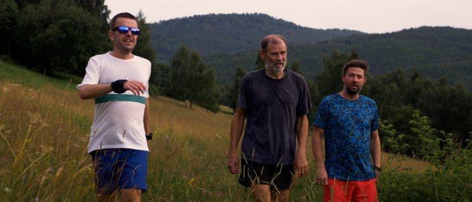Bene, Šimečka a Lyrik na Muránskej planine. Foto - Branislav Špaček