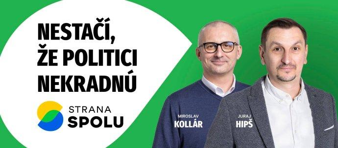 Miroslav Kollár a Juraj Hipš na spoločnom bilborde. Foto - Spolu