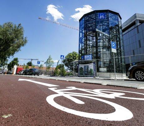 Cykloveža pri novej autobusovej stanici Nivy. Foto – TASR