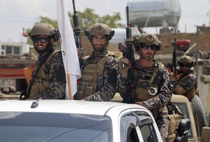 Špeciálne jednotky Talibanu. Foto – TASR/AP