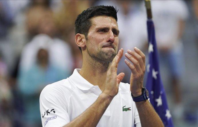 Novak Djoković po prehre vo finále US Open. FOTO - TASR/AP