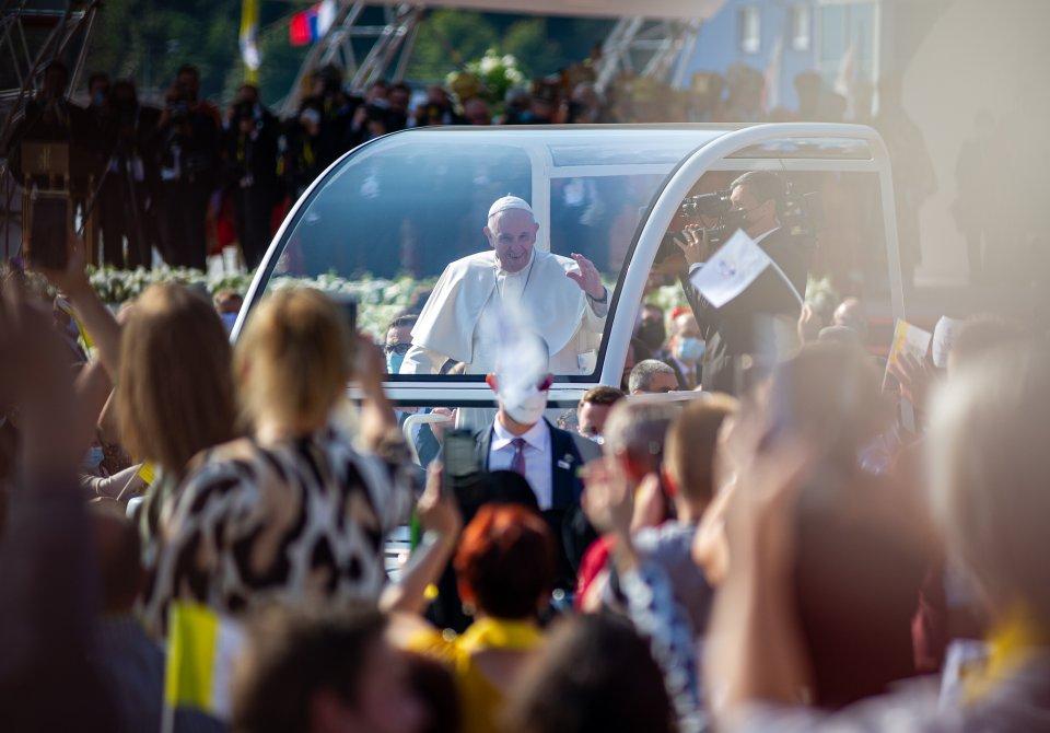 Pápež František v Prešove. Foto N – Peter Lázár