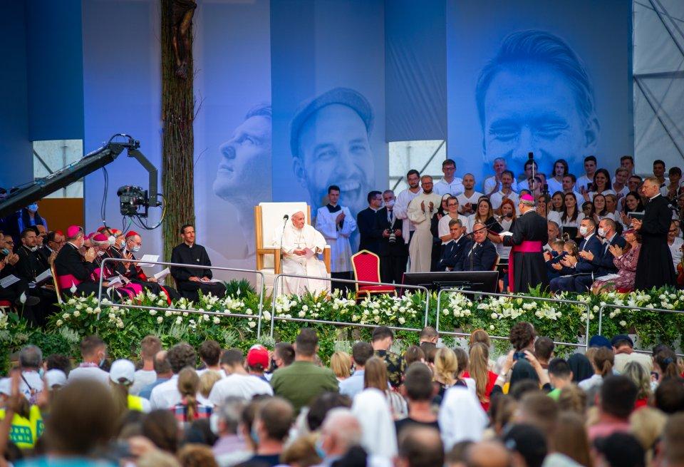 Pápež František v Košiciach. Foto N - Petr Lazár