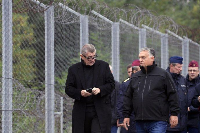Babiš obdivuje Orbánov protimigračný plot. Foto - TASR/AP