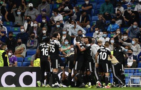 Radosť futbalistov Šerifu Tiraspoľ v Madride, Foto – TASR/AP