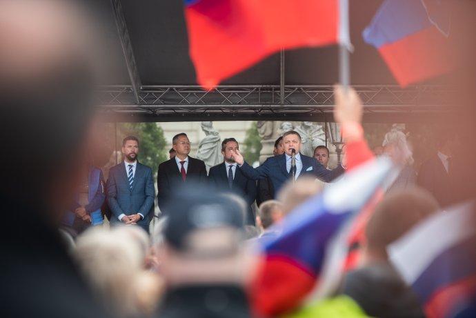 Protest v Košiciach. Foto N - Tomáš Hrivňák