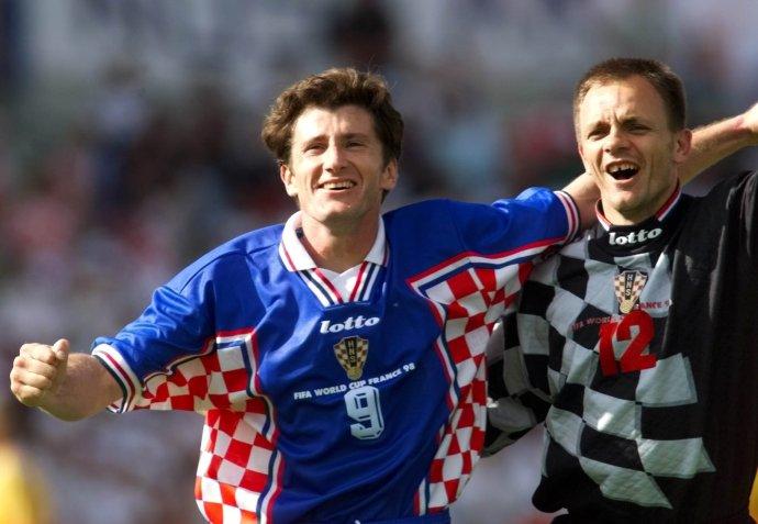 Davor Šuker a brankár Marjan Mrmić na MS 1998. Foto - TASR/AP