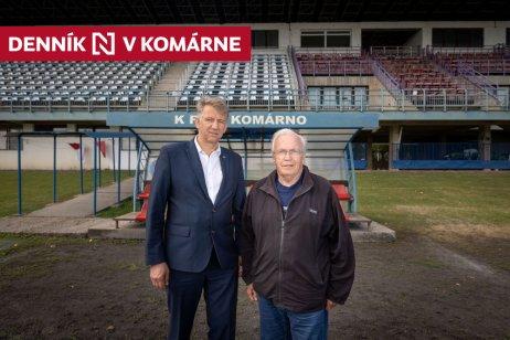 Viceprezindet Vojtech Szüllő (vľavo) a prezident KFC Komárno Juraj Baráth. Foto N – Tomáš Benedikovič
