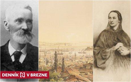 Gustáv Zechenter Laskomerský, Božena Němcová a pohľad na dobový Carihrad. Zdroj – Wikipédia a SNG