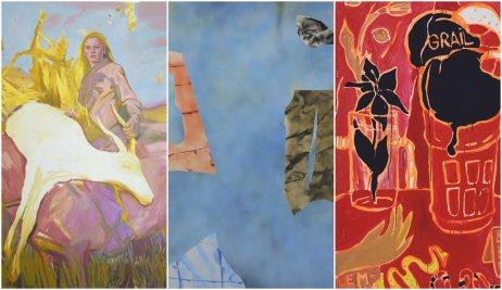 Trojica víťazných diel ocenenia Maľba 2021.