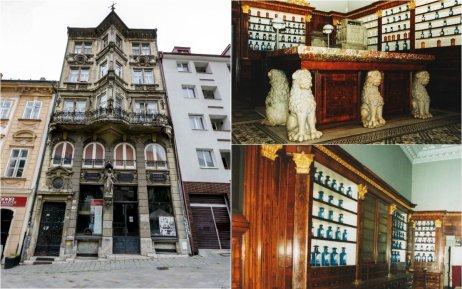 Lekáreň Salvator zvonku a jej mobiliár. Foto – TASR a Mestský ústav ochrany pamiatok v Bratislave