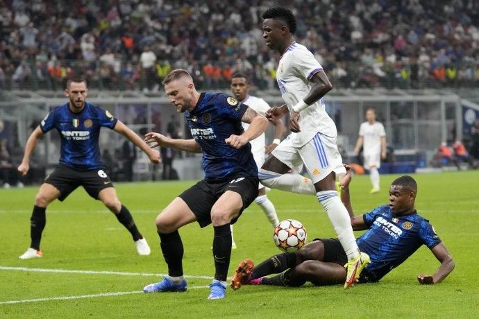 Milan Škriniar proti Realu Madrid. Foto - TASR/AP