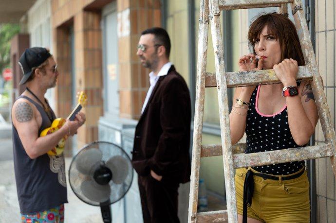 Dorota Nvotová, zvukový majster Marián Džubák a vľavo producent albumu Tomáš Sloboda. Foto - Miro Trimay