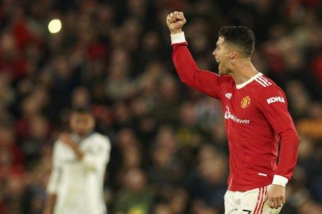 Cristiano Ronaldo oslavuje gól na 3:2. Foto – TASR/AP