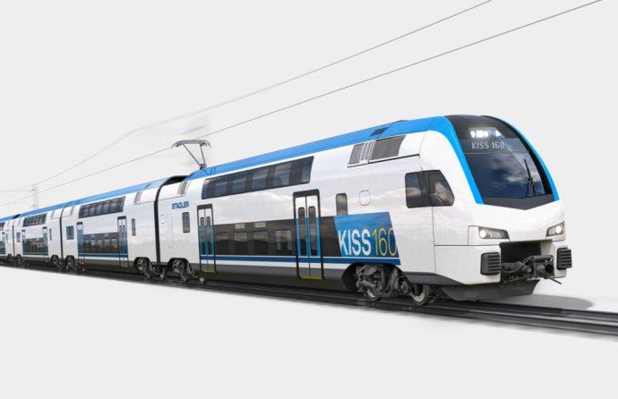 Skupina Stadler má v ponuke poschodové súpravy KISS, ktoré vyrába aj pre Slovinsko. Zdroj - Stadler
