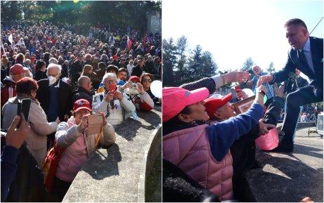 Na proteste Smer v Rimavskej Sobote sa zišli tisíce ľudí bez rúšok. Foto – N
