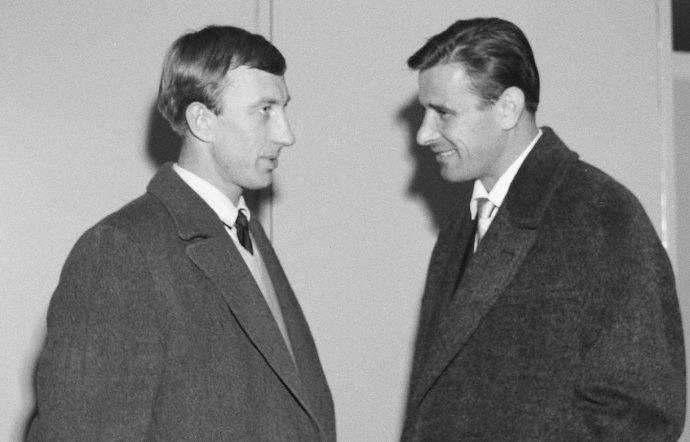 Igor Netto (vľavo) s Levom Jašinom. Foto - wikimedia.org