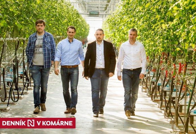 Zľava Roman Juhász, Zsolt Bindics, Gergely Szigeti a Juraj Kukucs. Foto - GreenCoop