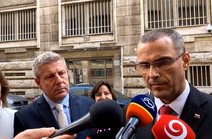 Minister zdravotníctva Vladimír Lengvarský a generálny prokurátor Maroš Žilinka. Foto – N